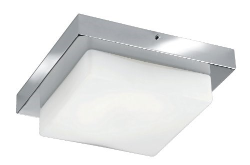 Plafoniere Led Soffitto : Trio  sam plafoniera led watt cromo bianco