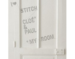 Sticker Stitch di Domestic - Grigio - Materiale plastico