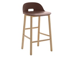 Emeco alfi counter stool high back sgabello con schienale alto dark