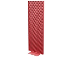 Paravento Mistral / L 80 x H 187 cm - Indoor /Outdoor - Matière Grise - Rosso - Metallo Rosso