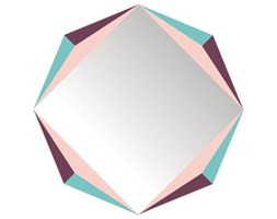 Specchio autocollante The Octagon - / Autodesivo - 48 x 48 cm di Domestic - Multicolore - Materiale plastico