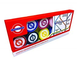 London Underground Tube Map - Set di Argilla da Modellare Bianco