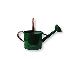 Spear & Jackson Kew Gardens Collection 4.5L French Style Watering Can Annaffiatoio, Verde Corsa, 4.5 Litre