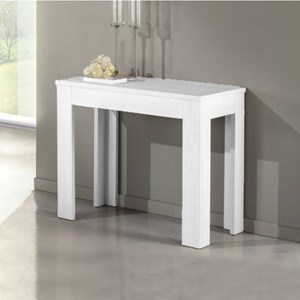 Tavolo Consolle Magic Allungabile.Tavolo Consolle Allungabile Magic Bianco Frassinato 3 Mt Homelook