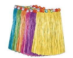 Beistle 50491-ast bambino erba artificiale hula gonna Assorted