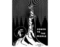 Wee Blue Coo Political Black Panther Power People Art Print Poster Wall Decor 12X16 inch Politico Persone Manifesto Parete