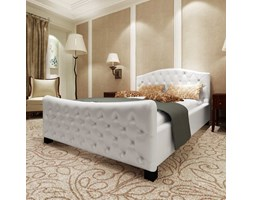 vidaXL Giroletto Bianco in Similpelle 180x200 cm Design Glamour