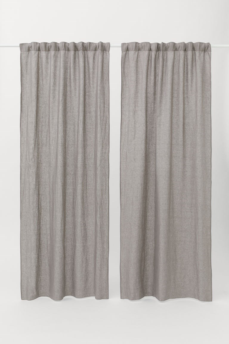 H & M - Tende in lino, 2 pz