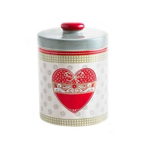 Tognana Biscottiera in Ceramica Country Love 1200 ml Rosa