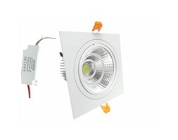 Silamp Faretto LED incasso Quadrato 12W Cob faro led controsoffitto con alimentatore Led