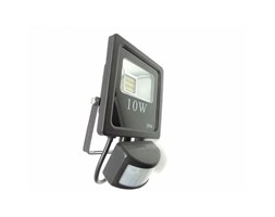 Silamp Faretto LED 10W ultra slim inclusi led con sensore di movimento esterno e interno