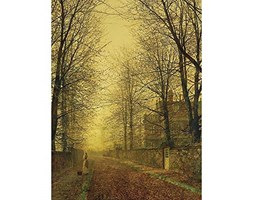 Wee Blue Coo John Atkinson Grimshaw Paintings Autumns Golden Glow Painting Art Print Poster Wall Decor 12X16 inch