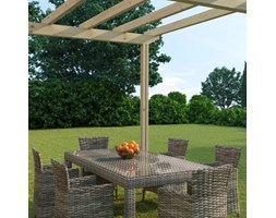 Pergola Eagle in legno marrone L 300 x P 300, H 268 cm