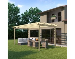 Pergola Eagle in legno marrone L 300 x P 594, H 272 cm