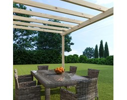 Pergola Eagle in legno marrone L 417.6 x P 300, H 268 cm