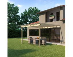 Pergola Eagle in legno marrone L 417.6 x P 417.6, H 268 cm
