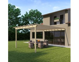 Pergola Eagle in legno marrone L 417.6 x P 594, H 272 cm