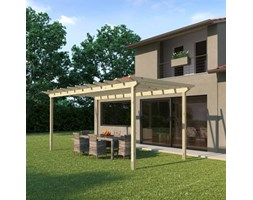 Pergola Eagle in legno marrone L 594 x P 300, H 272 cm