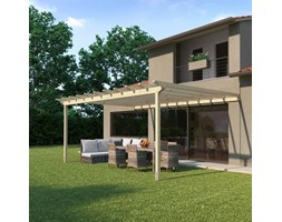 Pergola Eagle in legno marrone L 594 x P 417.6, H 272 cm