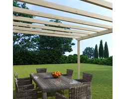 Pergola Eagle in legno marrone L 594 x P 594, H 272 cm