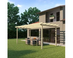 Pergola Flamingo in legno marrone L 300 x P 300, H 268 cm