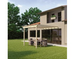 Pergola Flamingo in legno marrone L 300 x P 300 x, H 268 cm