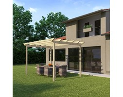 Pergola Flamingo in legno marrone L 300 x P 417.6, H 268 cm