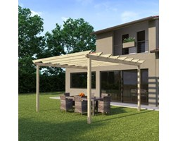 Pergola Flamingo in legno marrone L 417.6 x P 417.6, H 268 cm
