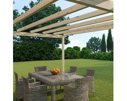Pergola Flamingo in legno marrone L 417.6 x P 594, H 272 cm
