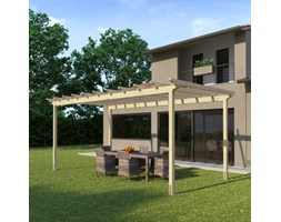 Pergola Flamingo in legno marrone L 594 x P 300, H 272 cm