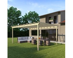 Pergola Flamingo in legno marrone L 594 x P 417.6, H 272 cm