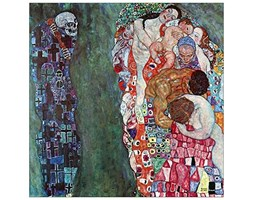 ArtPlaza Klimt Gustav Death And Life Pannello Decorativo, Legno, Multicolore, 70x70 cm