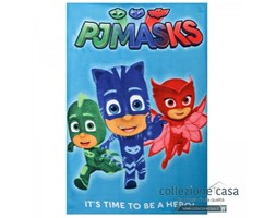 Plaid in pile pjmasks super pigiamini 100x150 cm