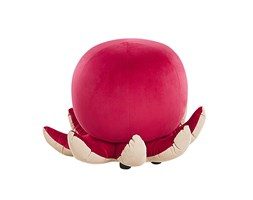 Pouf animaletto in velluto rosso OCTOPUS