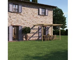 Pergola Orange in legno naturale L 390 x P 300, H 240 cm