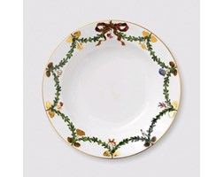 PIATTO DOLCE STAR FLUTED CHRISTMAS