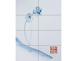 Japanese Watercolour Flower XL Giant Panel Poster (8 Sections) Giapponese Acquerello Fiore Manifesto