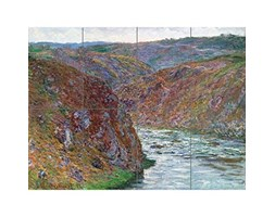 Artery8 Claude Monet Valley of The Creuse Gray Day XL Giant Panel Poster (8 Sections) Valle Manifesto