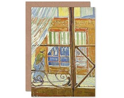Vincent Van Gogh View of A Butchers Shop Fine Art Greeting Card Plus Envelope Blank Inside Visualizza