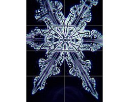 Snowflake Crystal Abstract XL Giant Panel Poster (8 Sections) Neve Astratto Manifesto