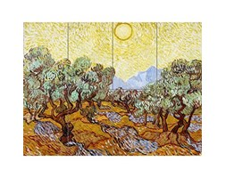 Vincent Van Gogh Olive Trees Minneapolis Institute of Arts XL Giant Panel Poster (8 Sections) Alberi Manifesto Beige