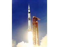 Wee Blue Coo Space Apollo 11 Launch Saturn V Rocket Blast Thrust Flame USA Art Print Poster Wall Decor 12X16 inch
