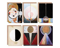 Hilma AF Klint Altarpiece Buddha Dove Evolution Abstract Fine Art Greeting Card Pack of 6 Astratto