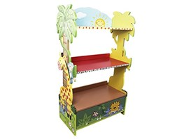 Fantasy Fields by Teamson Sunny Safari libreria per Bambini, Legno