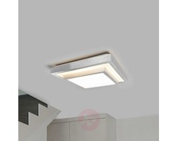Plafoniera Rettangolare Led Soffitto : Top light plafoniera tp wally 1138 m2 2g11 led 71cm metallo