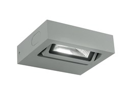 Applique Orientabile Alluminio Silver Esterno Led 3 Watt Luce Calda Intec Led-beta-ap1