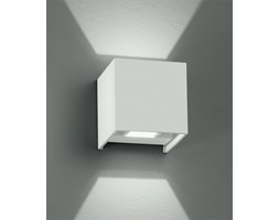 Applique Cubica Bianca Emissione Luce Superiore Inferiore Led 6 Watt Luce Calda Intec Led-w-alfa/6w