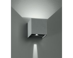 Applique Silver Cubica Emissione Luminosa Sopra Sotto Regolabile Led 6 Watt Luce Calda Intec Led-w-alfa/6w