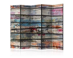Paravento 5 Pannelli - Colourful Wood Ii 225x172cm Erroi
