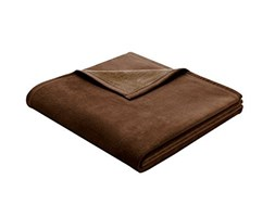 Bocasa Exquisite Cotton Coperta, 150 x 200 cm, Marrone Scuro, Dark Brown, 150x200 cm Marrone